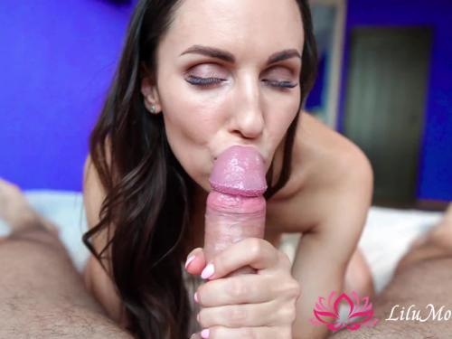 Lilu moon sloppy blowjob and cumshot in mouth